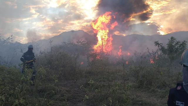 Alerta por incendios forestales en Gigante