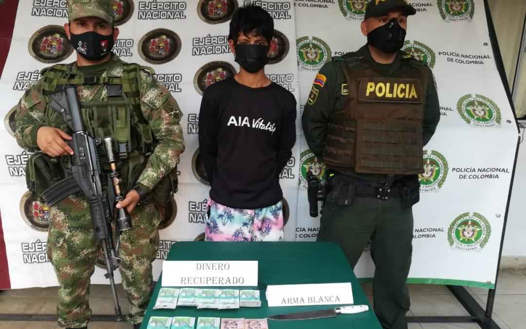Alias 'La Chilga' fue capturado por hurto tras llamado de la comunidad